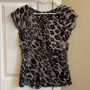 Ann Taylor leopard print blouse